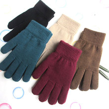 Trends Hugh Men's Ladies Warm Winter Gloves Free Snow Thickened Plus Velvet High Stretch Knitted Five Finger Magic Gloves Warm недорого