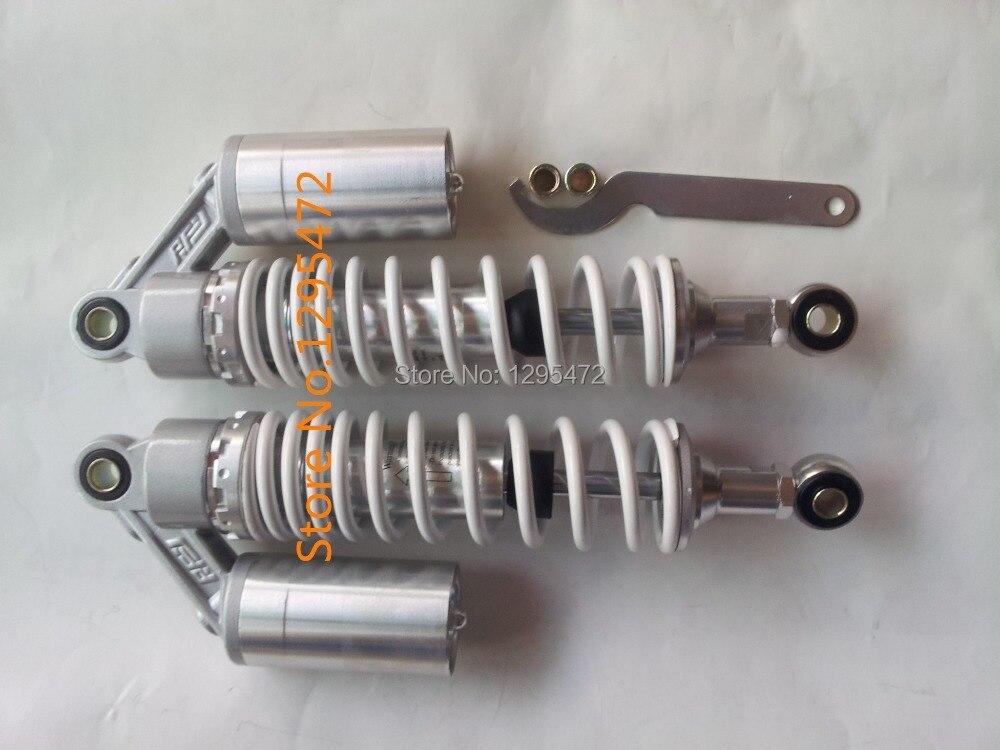 340мм амортизаторы воздушный амортизатор для Ямаха Хонда трайк мопед скутер XJR400 cb400 и 550 750 TRX250R 450р Сузуки GS500 щепка+ белый