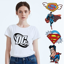 Batman v Superman Cartoon Pattern Printing Leisure Fashion Womens T-Shirt  Summer Modal White Casual Short Sleeve