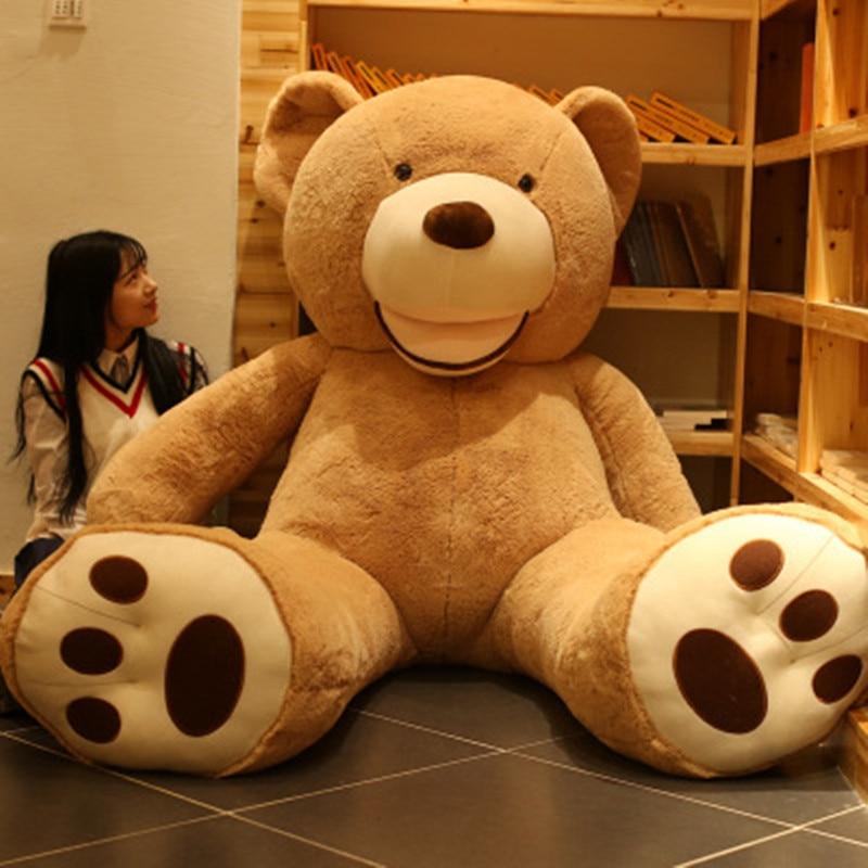 1 pc 260 cm super grand doux peluche ours en peluche peau jouet géant ours en peluche jouets en peluche pas cher Pirce fille petite amie cadeaux de noël