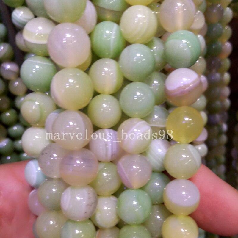 Beads Jewelry & Accessories Free Shipping Fashion Jewelry 10mm Grape Green Stripes Carnelian Round Global Art Loose Beads L 15.5 G7393