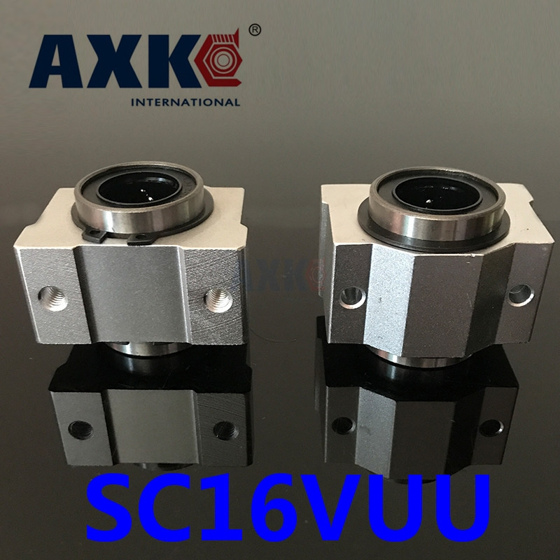 2018 Axk Cnc Router Parts 4pcs Free Shipping Sc16vuu Sc16v Scv16uu Scv16 16mm Linear Bearing Block Diy Slide Units Cnc Router axk sc8uu scs8uu slide unit block bearing steel linear motion ball bearing slide bushing shaft cnc router diy 3d printer parts