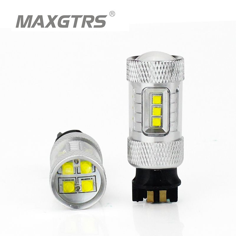 30W 50W 80W CREE Chip Canbus PW24W LED Projector DRL Daytime Running Light White Turn Signal Bulb For VW Golf MK7 Golf7 Golf VII