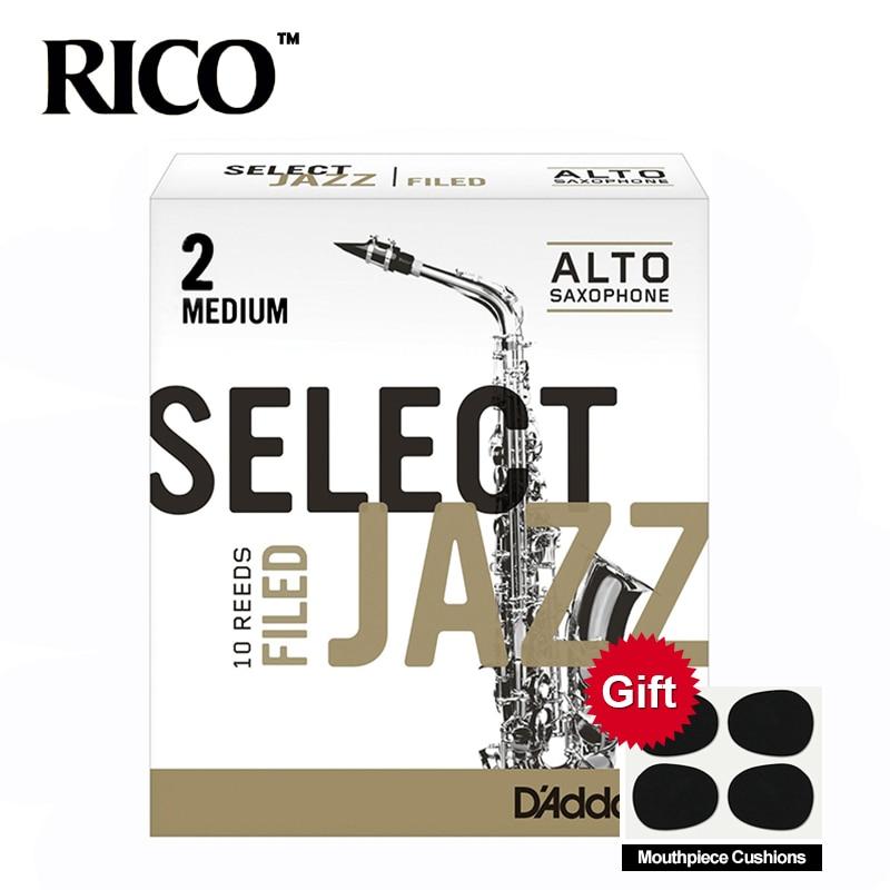 RICO Select Jazz Alto Sax Reeds / Saxophone Alto Eb Reeds, Filed, Strength 2M/2H/3S, 10-pack