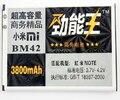 3800 mah batería de alta capacidad reemplazo para redmi note recargable batería para xiaomi bm42 envío gratis