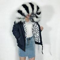 Зимняя новая черная и белая куртка с подкладкой из меха Dapple темно синяя верхняя куртка бомбер с большим воротником