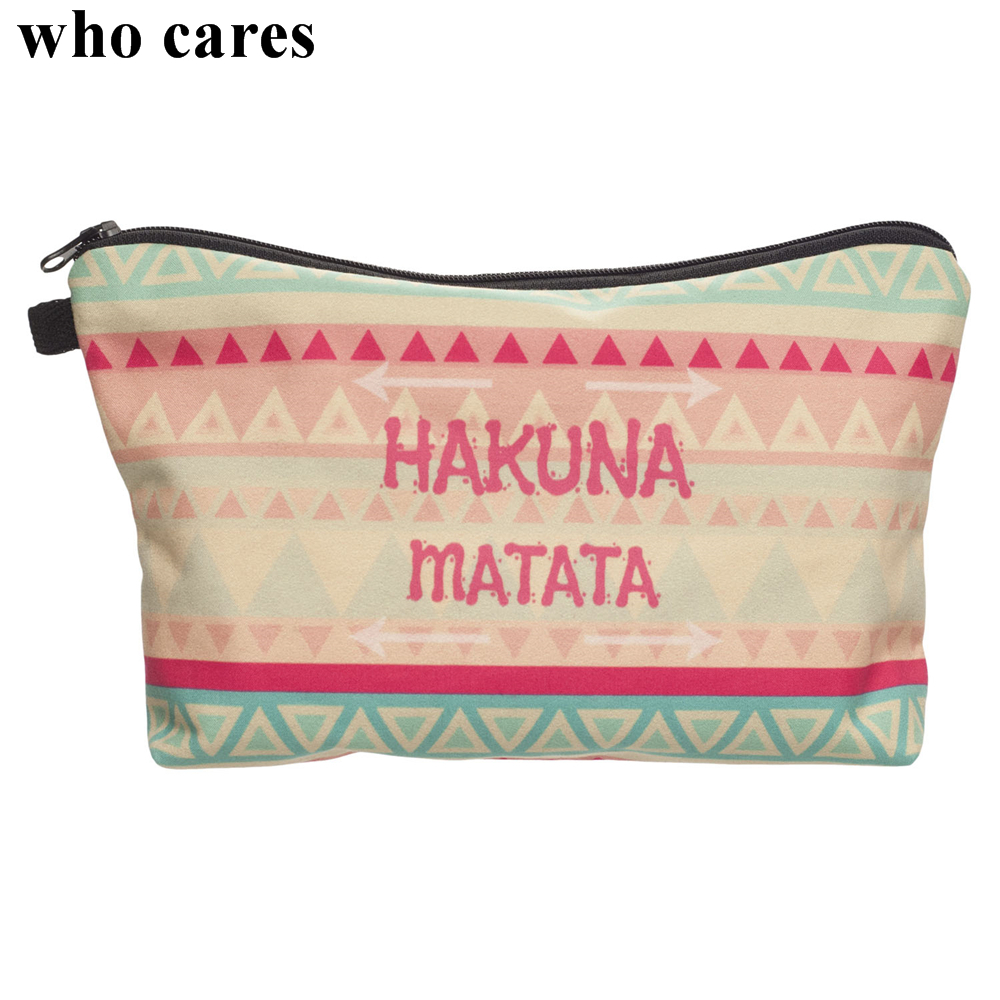 Who Cares Mysterious Graphic Printing Cosmetic Bag Organizer Toiletry Pencil Makeup Bags Necessarie Makyaj Cantasi Kosmetyczka who cares about particle physics