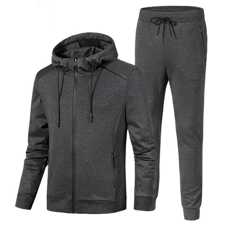 Hoodies Set Men 7XL 8XL Sport Suit New Loose Sportswear Windproof Thermal Gym Tracksuit Knitting Hooded Jog Running Sportsuit kangfeng серый цвет 7xl