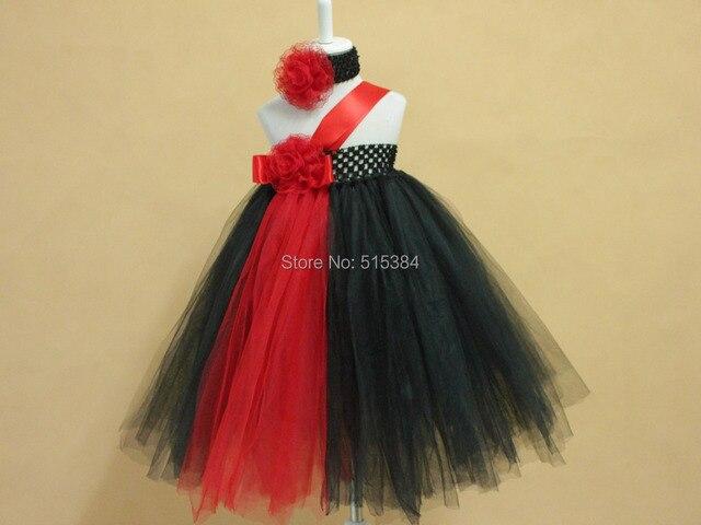 New designs black red tutus for children kids girls princess evening ...