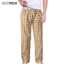 Плед Мужская Пижамные штаны Check Pajama Брюки мужчин Нижнее бельё piyamas брюки тканые Mens Lounge Брюки удобные Pantalon G-2505