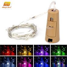 2M 20 LEDs Strips Stopper Wine Bottle Lamp LED Strip DIY Night Light Party Home Wedding Decoration Lamp String Copper Wire Lamps(China)