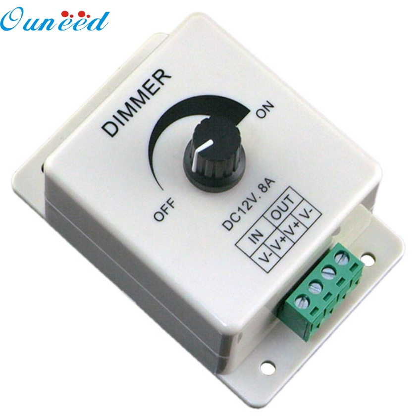 Ouneed 88 X 60 X 56mm 12V 8A PIR Sensor LED Strip Light Switch Dimmer Brightness Adjustable Controller Gifts PP