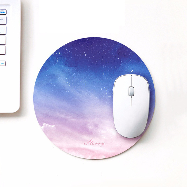 starry series round mouse mat 220 x 220 x 3mm circular mouse pad
