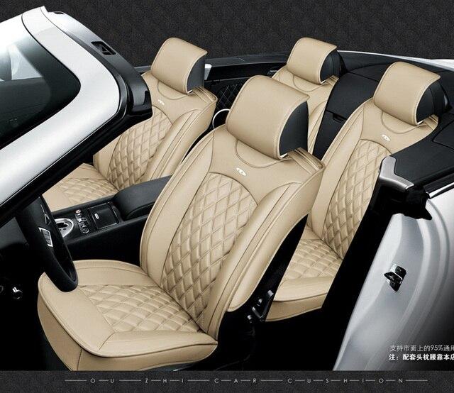 OUZHI for CITROEN C Quatre C Elysee C2 C3 C5 black soft leather car ...
