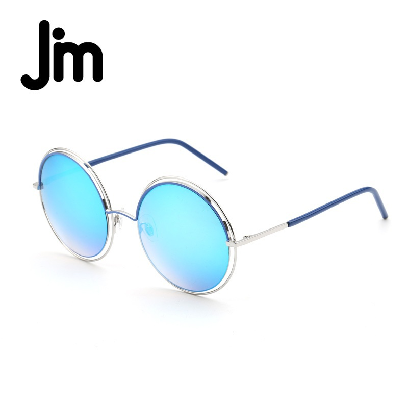 JM Vintage Round Oversized Double Wire Rim Sunglasses Women Fashion ...