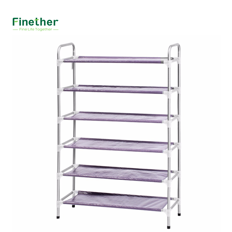 Shoe Hanger Stackable Adjustable 6Tier Shoe Rack Shoe Tower Shelving  Storage Organizer For Entryway Closet Living