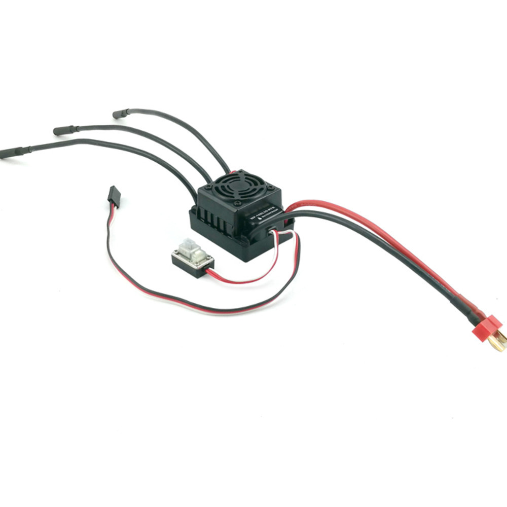 100a waterproof brushless esc speed controller 2s 4s lipo nimh fit 3650 3660 motor for 1  10 rc