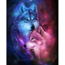 Diamant Diy 5D Diamond Painting Cross Stitch Wolf And Coyotes Needlework Diamond Embroidery Full Diamond Decorative Sticker Kits fullcang diy 5pcs full square diamond embroidery wolf and scenery diamond painting cross stitch 5d mosaic needlework kits d952
