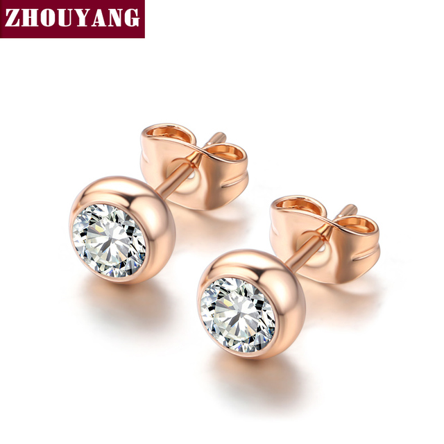 Top Quality ZYE496 OL Style Concise Crystal Rose Gold Color Fashion