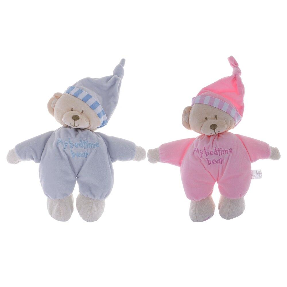 Детские спальные шляпа медведь сон Куклы Мягкие плюшевые вещи Игрушечные лошадки младенческой малыш соска