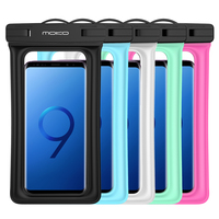 Floating Waterproof Case,MoKo Universal Dry Bag Pouch with Armband Neck Strap for iPhone X/8 Plus/8/7/ 6S Plus,Samsung Note 8/S8