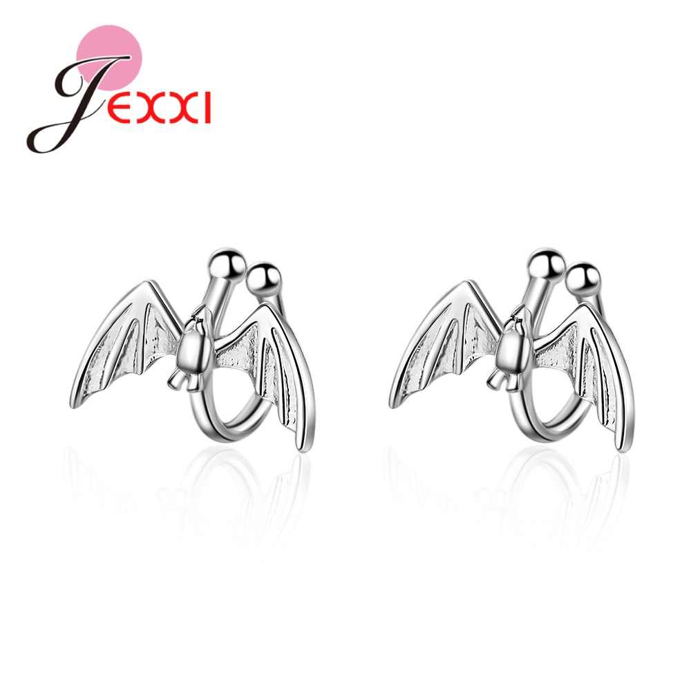 New Simple Fashion Earless Hole Cute Bat Ear Clips For Women Girls New Style Earrings Accessory Jewelry Top Quality