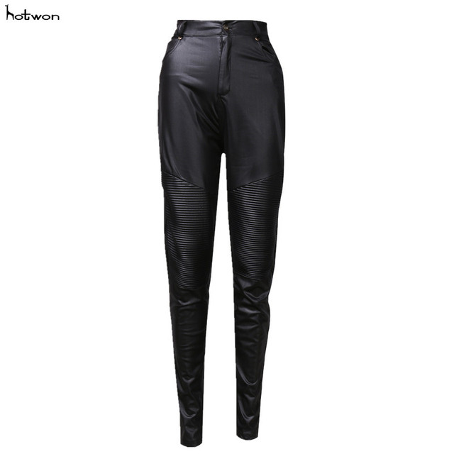 ee0b7ad816b7 New Hot Sale Sexy Womens Stretch High Waist Pencil Pants Skinny PU Leather  Leggings Trousers