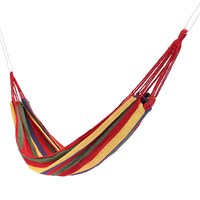 SGODDE Portable Outdoor Garden Hammock Hang BED Travel Camping Swing Canvas Stripe Approx 1900x850mm Hot Sale