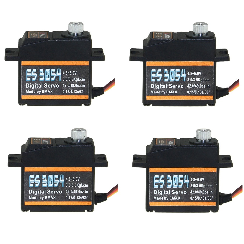 4pcs/lot EMAX ES3054 Digital Metal Servo For Believer UAV 1960mm RC Helicopter EPO Airplane 17g digital servo instead ES3154 image