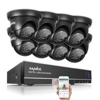 SANNCE 8CH 1080N DVR 1080P NVR CCTV System 8pcs 720P TVI Security Cameras IR Indoor Outdoor