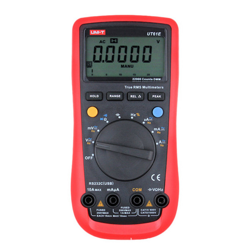 Multimeter UNI-T UT61e AC/DC True RMS multimeter Auto Ranging uni-t ut61e lcd digital multimeter date hold RS-232 uni t ut151e digital multimeter atv 250cc laptops digital multimeter