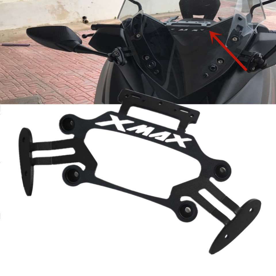 Motorcycle Modified GPS Plate Mirror Bracket For Yamaha XMAX X MAX 250 300 Front Stand Holder