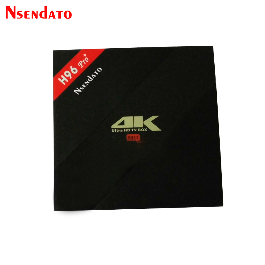 H96 Pro+ Android 7.1 TV Box Amlogic S912 Octa Core 3G/32G Android TV Box H.265 BT4.1 KD16.1 4K Smart Media Player Set Top Box int box i7 amlogic s912 android 6 0 4k tv box tronsmart tsm01