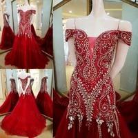 Vestidos De Fiesta Largos Elegantes Long Evening Dress 2017 Formal Dress Beading Crystal Sequins Evening Gown AU34