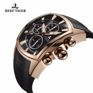 Image 3 - 2020 Reef Tiger/RT Luxury Waterproof Sport Watches Date Rose Gold Rubber Strap Military Mens Watches Relogio Masculino RGA3069 T