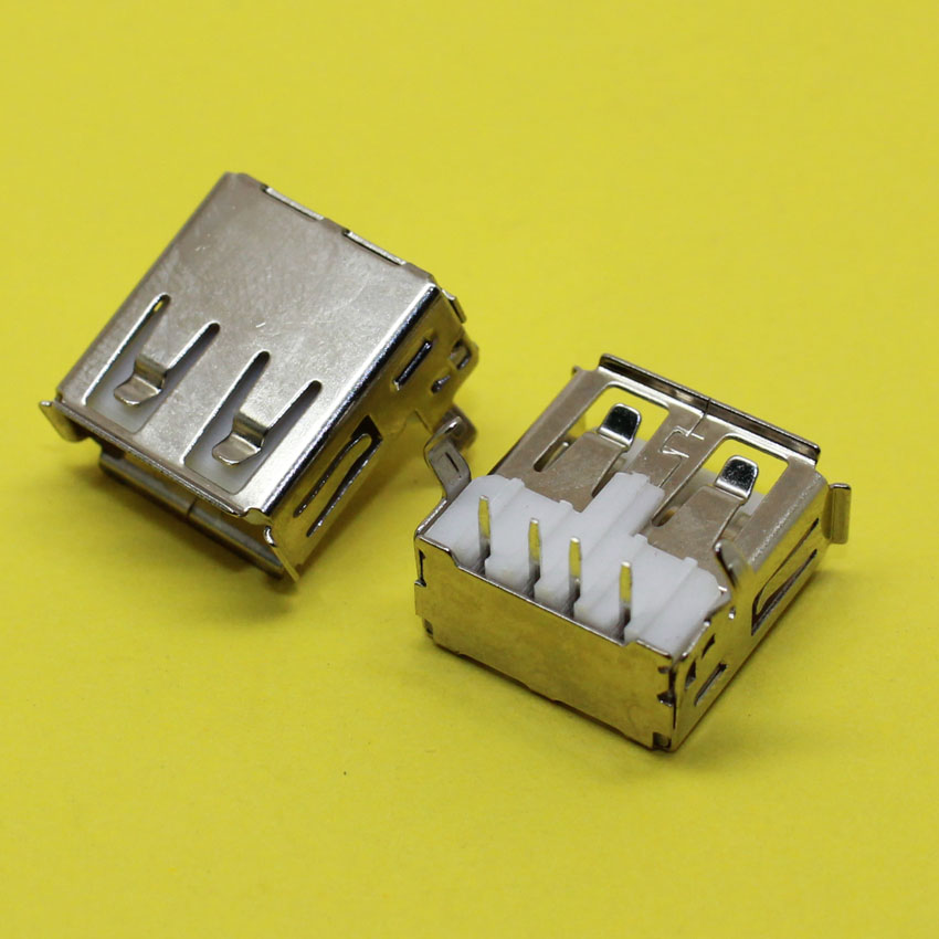 2pcs USB Socket USB Type A Standard Female Soldering Jack Connector USB 90 Degree Bend Feet Socket for Computer PCB DIY HY490-1 10pcs g45 usb b type female socket connector for printer data interface high quality sell at a loss usa belarus ukraine