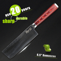 HAOYE 7 Inch Vegetable Knives Japanese Vg10 Steel Damascus Kitchen Knife Chinese Home Cooking Sharp Cutlery