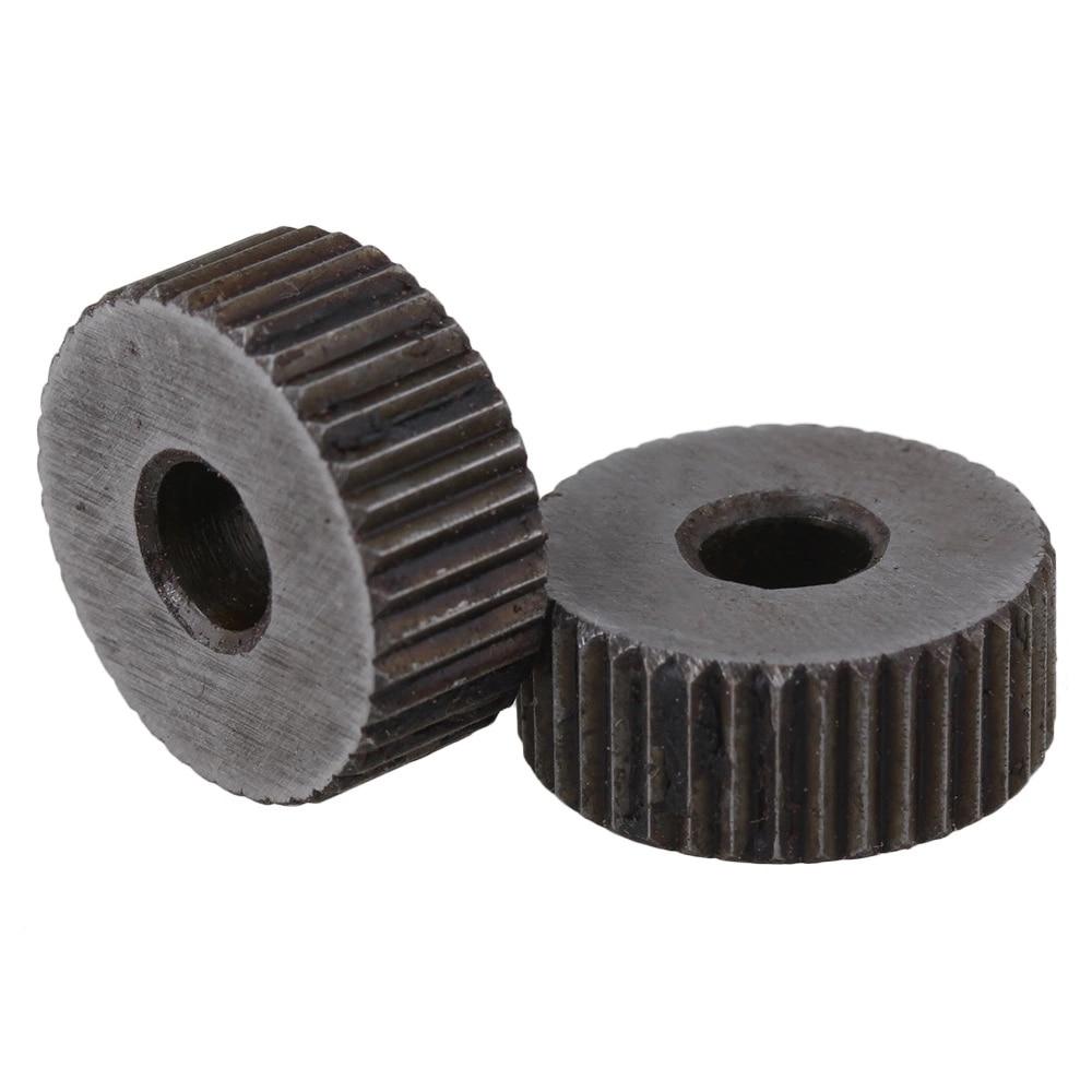 Knurling Tool Single Straight Wheel Linear Knurl Tool 1mm Pitch Set of 10