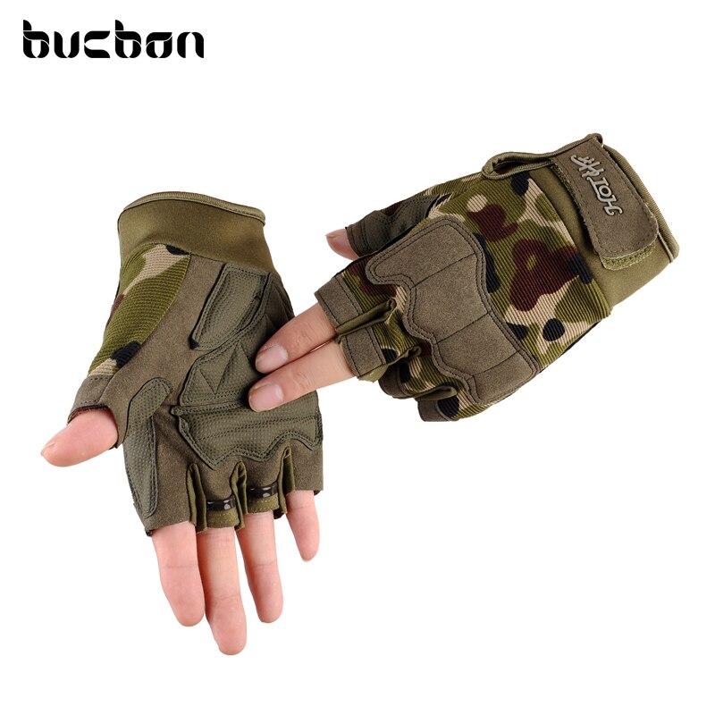 2018 מותג חצי אצבע צבא צבאי טקטי כפפות גברים נשים חיצוני ספורט חדר כושר אימון רך ללא אצבעות כפפות AGB568