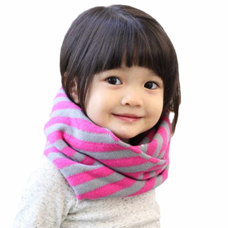 Lawadka Striped Baby Warm Scarf Snood Children Winter Baby Cotton Snood for Girls Cute Soft Snood Baby Party Supplies