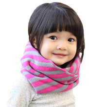 Lawadka Striped Baby Warm Scarf Snood Children Winter Baby Cotton Snood for Girl