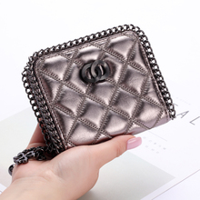 Stylish Shimmering Compact Leather Women's Wallet