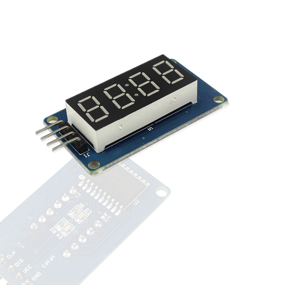 TM1637 <font><b>LED</b></font> Clock Display Module 4 Bits 0.36 inch RED Anode Digital Tube Four Serial Driver Board Pack for <font><b>arduino</b></font> Diy Kit image