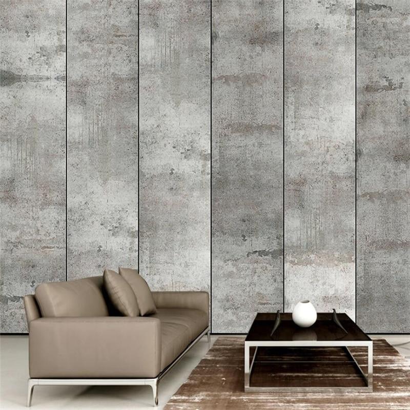 wellyu Retro industrial wind cement living room bedroom wall custom large mural green wallpaper papel de parede para quarto