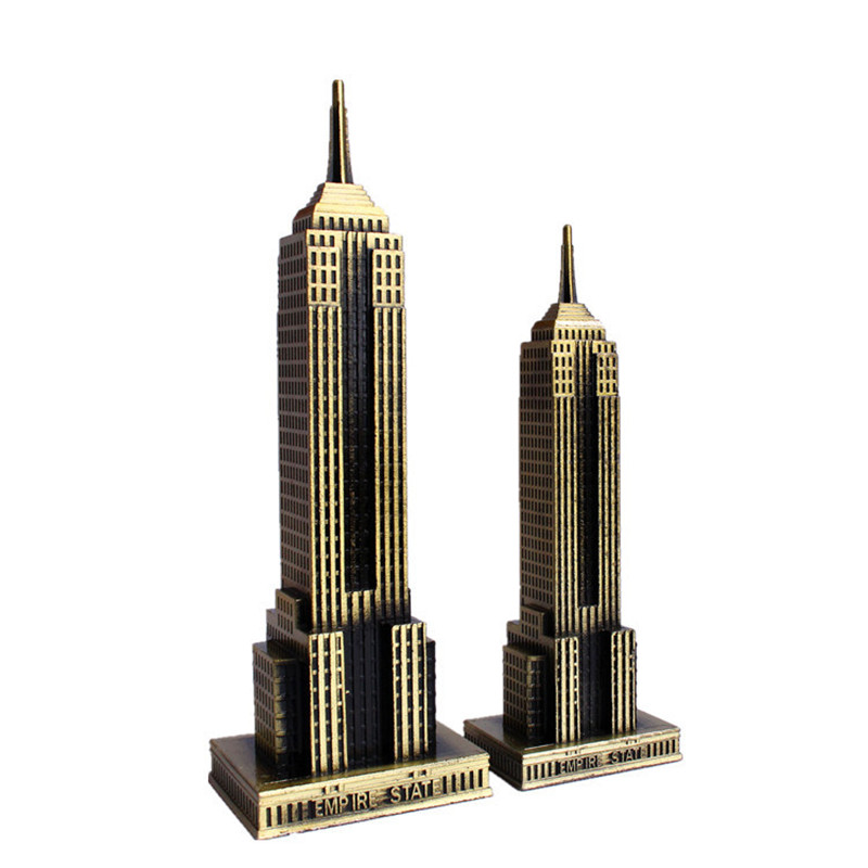 Empire State Building U.S. Landmark Skyscraper Modeling Decor Figurines Creative Modern Metal Craft Tourist Souvenirs Home Decor