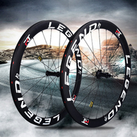 Full Carbon Fiber Wheelset Rim Carbon Clincher Wheelset 700mm Bicycle Wheels With Disc 6 Pawl Hub