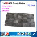 Wholesale 10mm P10 indoor red led screen module 32*16 pixel dot matrix module constant current for p10 led display board