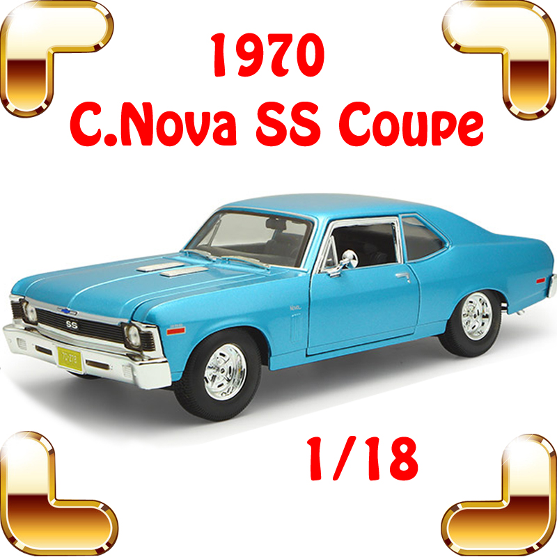 New Arrival Gift 1970 Nova SS 1/18 Metal Model Classic Collection Diecast Elegant Model Scale House Decoration Big Toys Vehicle maisto jeep wrangler rubicon fire engine 1 18 scale alloy model metal diecast car toys high quality collection kids toys gift