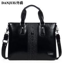 Fashion Genuine leather font b men b font handbag Alligator Pattern real leather font b men