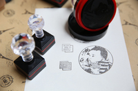 Custom Photosensitive Seal Stamp Personalized Logo Self Inking Stamp Custom Your Logo Any Size Can Do